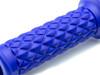 "Blue Diamond Motorbike Hand Grips 22mm (7/8"") for Scrambler Brat Bike Cafe Racer"