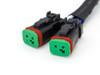 H4 to Deutsche Plug LED Headlight & Light Bar Splitter Adapter - High & Low Beam