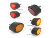Black Motorbike LED Stop Tail Lights Red Lens for Project Bike, Trike, Classic Car, Pick Up Truck, Van - Set of 4