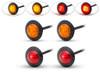 "Set of 4 LED Stop & Tail Lights & Indicators for Motorbikes, Trikes, 4x4 Pick Ups, Trailers & Caravans - 2"" 50mm"