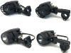30W Motorbike Spotlights with Wiring & Switch Kit for Adventure Bike Quad Trike ATV