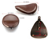 Brown Single Seat for Bobber Chopper Vintage Retro Custom Project