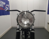 "Motorbike 7.7"" Headlight Chrome H4 12V 55W for Cafe Racer & Scrambler - SHALLOW"