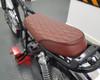 Brown Motorbike Seat for Scrambler Yard Build with Diamond Stitching