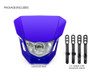 Motorbike Headlight Mask - Supermoto & Streetfighter - Blue - 12V 35W