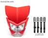 Motorbike Headlight Mask - Streetfighter & Supermoto - Red - 12V 35W