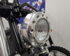 "Motorbike 5"" Headlight  12V 35W - Polished Alloy with Drilled Bezel for Custom Retro Vintage Style Project Bike"