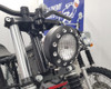"Motorbike 5"" Headlight 12V 35W - Black Alloy with Drilled Bezel for Custom Retro Vintage Style Project Bike"