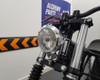 "Motorbike 4.75"" Headlight 12V 35W - Polished Alloy with Drilled Bezel for Bobber Style Retro Vintage Project Bike"