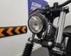 "Motorbike 4.75"" Headlight 12V 35W - Black Alloy with Drilled Bezel for Bobber Style Retro Vintage Project Bike"