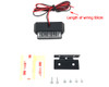 Motorbike LED Light Number Licence Plate - Black - for Quad ATV Trike - VERY BRIGHT