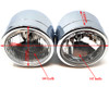 Motorbike Headlight Dominator Tracker Streetfighter Chrome Dual Twin HOMOLOGATED