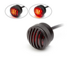 Motorbike, Car LED Mini Stoplight & Tail Light - Prison Grill - Pick Up, 4x4, Van - Matt Black