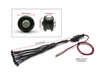 RED Car Motorbike LED Auxiliary Light Set - Flush Mount - 14 Piece