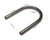 20mm x 175mm Motorbike Rear Seat Loop Frame - Flat Hoop for Custom Project Scrambler