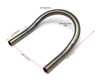20mm x 175mm Motorbike Rear Seat Loop Frame - Upswept Hoop for Custom Project Scrambler