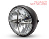 "Cross Design 7"" INCH Motorbike Headlight Cover Guard for Cafe Racer Scrambler Project Retro"