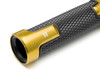 Gold Motorbike Hand Grips & Bar Ends for 22mm bars - Anodised Aluminium - High Quality