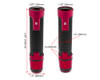 Red Motorbike Hand Grips & Bar Ends for 22mm bars - Anodised Aluminium - High Quality