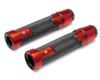 Orange Motorbike Hand Grips & Bar Ends for 22mm bars - Anodised Aluminium - High Quality