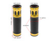 Gold Motorbike Hand Grips for 22mm bars - Anodised Aluminium - High Quality