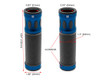 Blue Motorbike Hand Grips for 22mm bars - Anodised Aluminium - High Quality