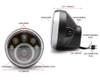 "LED Motorbike 7"" Headlight - 12V  for Retro Cafe Racer & Streetfighter Project"
