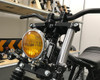 Motorbike Front LED Indicators with Driving Light DRL - Integrated - CNC Billet Aluminium - Contrast Cut