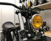 Motorbike LED Indicators Front & Rear with Driving Light DRL, Stoplight and Taillight - Integrated - Contrast Cut CNC Billet Aluminium