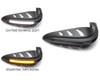 Motorbike Quad ATV Handguards - BLACK with LED Indicators & Daytime Running Lights