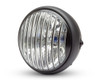"Motorbike 7.7"" Headlight with Contrast Cut Prison Grill - 55W for Custom Retro Project"