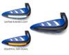 Motorbike Quad ATV Handguards - BLUE with LED Indicators & BLUE Daytime Running Lights