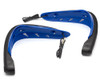 Motorbike Quad ATV Handguards - BLUE with LED Indicators & BLUE Daytime Running Lights