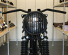 "Motorbike Headlight LED 7.7"" with Prison Grill for Retro Cafe Racer & Scrambler"