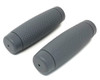 """Grey Ribbed Hand Grips - Soft Touch for 22mm (7/8"""") Handlebars"""