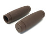 """Brown Ribbed Hand Grips - Soft Touch for 22mm (7/8"""") Handlebars"""