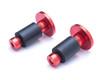 "Bar End Weights CNC Billet Aluminium - Red for 22mm 7/8"" Handlebars"