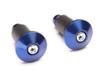 "Bar End Weights CNC Billet Aluminium - Blue for 22mm 7/8"" Handlebars"