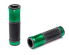 Green Anodised Aluminium / Rubber Hand Grips for 22mm Bars