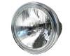 "7.5"" 55W Headlight - Shallow - Homologated - Black with Chrome Bezel"