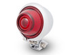 LED Taillight Stoplight Bates Style in Chrome for Vintage Retro Custom Project