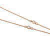 Rose Gold Plated Necklace with Coloured Cubic Zirconia Cluster on 46cm Chain