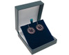 Sterling Silver and Rose Gold Plated Diamond Cut Circle Drop Earrings