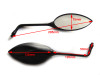 Pair of Excellent Quality Universal E-marked Motorcycle Motorbike Trike Mirrors
