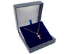 Delicate Rose Gold Plated Small Cross with Cubic Zirconia on 41cm Chain Necklace