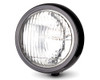 """5"""" Motorcycle Shallow Headlight 12V 55W in Gloss Black for Project Custom Bike"""