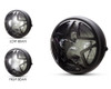 "Motorbike Headlight LED 7.7"" with Star Design Grill for Retro Cafe Racer & Streetfighter"