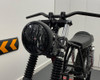 """Motorbike Headlight LED 7.7"""" with Flame Grill for Retro Cafe Racer & Streetfighter"""