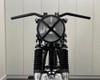 "Motorcycle Headlight 7.7"" Matt Black Steel 12V 55W X-Rally Design Grill"