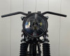 """Motorcycle Headlight LED 7.7"""" with Lightning Bolt Grill for Retro Cafe Racer & Streetfighter"""